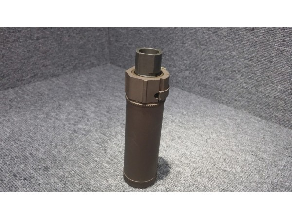 Mini QD Silencer for Airsoft (Brown)