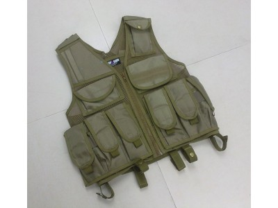 Tactical Vest (Tan, with Pouch)