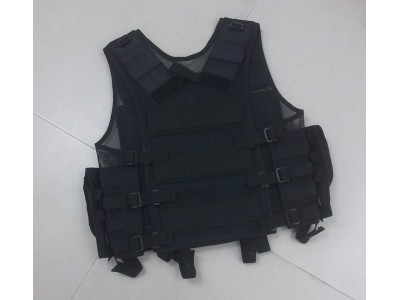 Tactical Vest (Black, with Pouch)