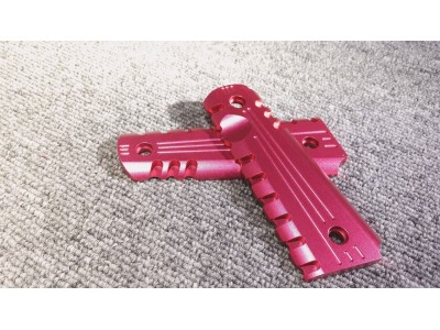CNC Hand Grip Plate for 1911/MEU (Red)