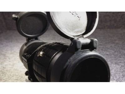 QD 4X Magnifier  with Flippable Mount