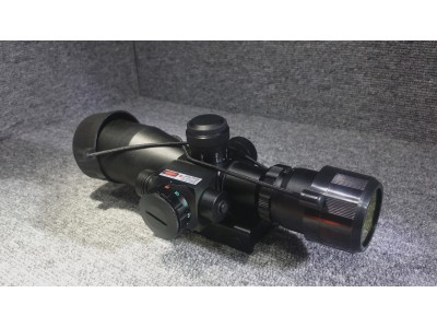 2.5-10x40 Scope with Red laser