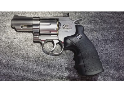 "WG 2.5"" 6mm Revolver (Silver) using CO2"