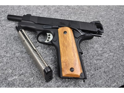 Bell MEU 1911 GBB Pistol (Black/Wood) - CO2