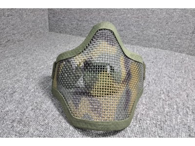 Metal Mesh Half-face Mask (OD with pattern)