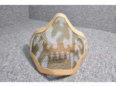 Metal Mesh Half-face Mask (DE with pattern)