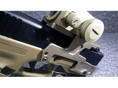 Rail Mount Base for Glock 17/18c with T1 Red dot